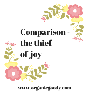 Comparison - the thief of joy. Quote graphic