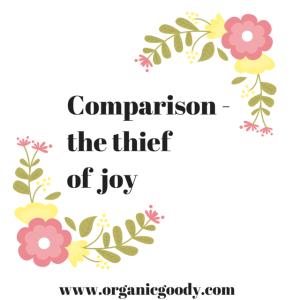 Comparison - the thief of joy. Quote graphic