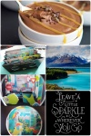 Fab Friday - 3D paper art, Lake Pukaki New Zealand, Paleo Chocolate caramel mousse, Leave a little sparkle quote.