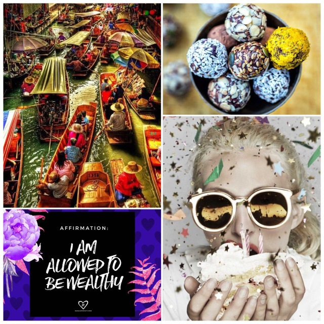 Fab Friday - floating markets, raw vegan bliss balls, Money mindset affirmation, Karen walker 10 years