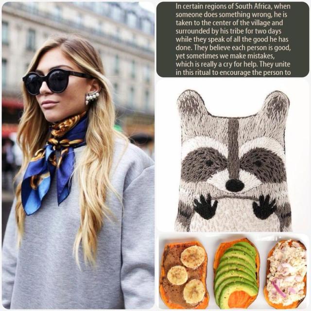 Fab Friday - street style inspo, Ubuntu, raccoon embroidery, sweet potato toast