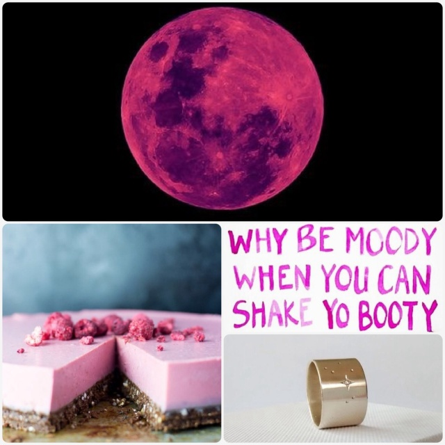 Fab Friday - pink moon, dairy free cheesecake, positive quote, matariki ring