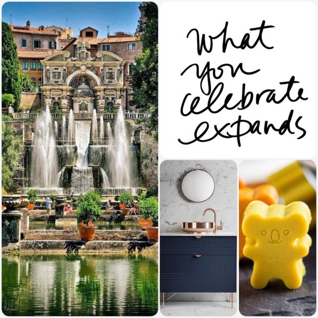 Fab Friday - Villa d'Este tivoli Italy, truthbomb, cold busting gummies, navy vanity