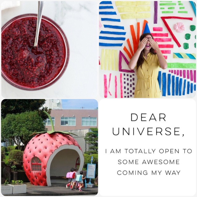 Fab Friday - Chia jam, Party backdrop, strawberry bus shelter, dear universe