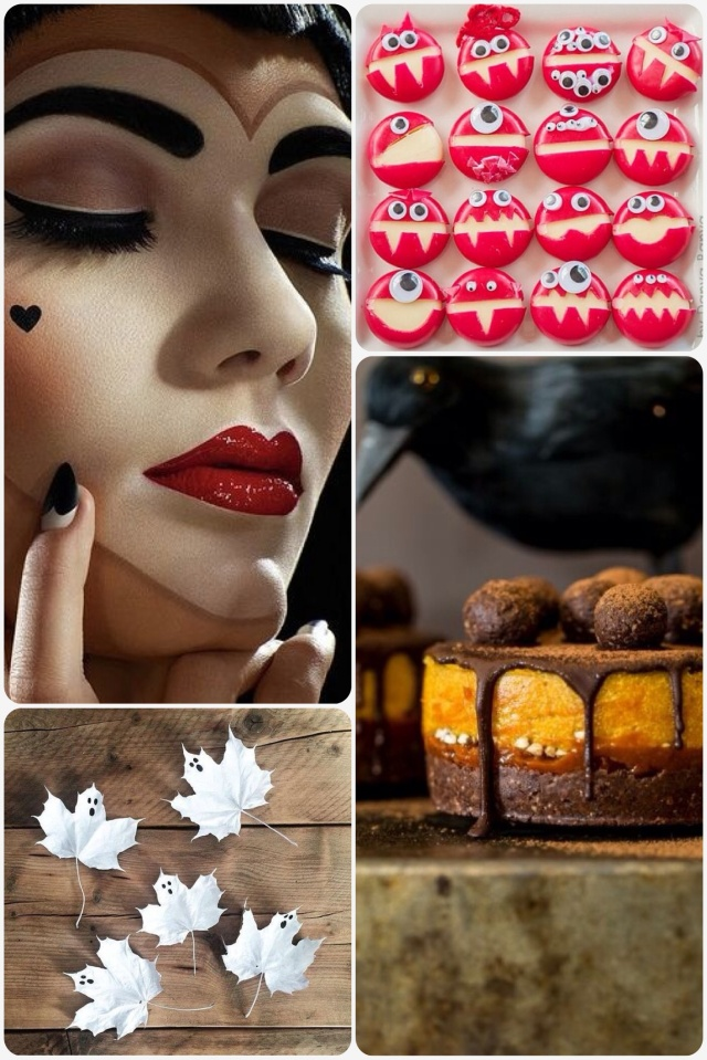 Fab Friday Halloween special - monster cheese, make up, pumpkin cake, ghost leaves