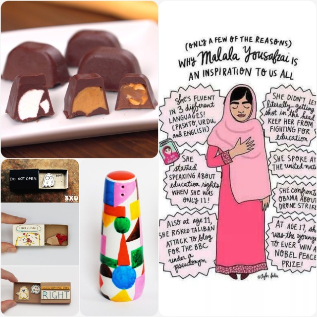 Fab Friday - Malala, Ice cube tray chocolates, matchbox cards, DIY porcelain decoration