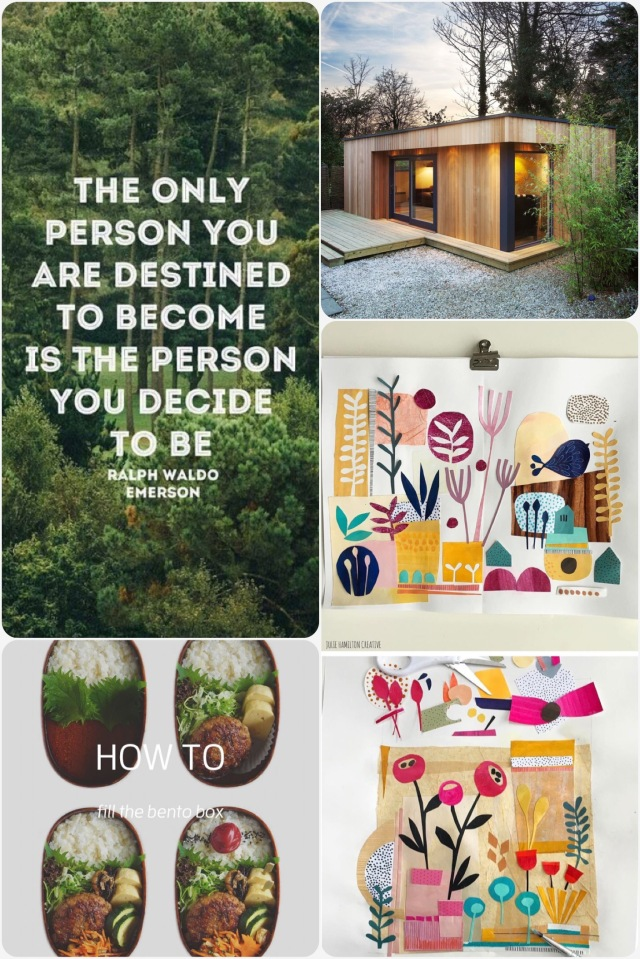 Fab Friday - tiny home, Ralph Waldo Emerson quote, paper craft , how to bento
