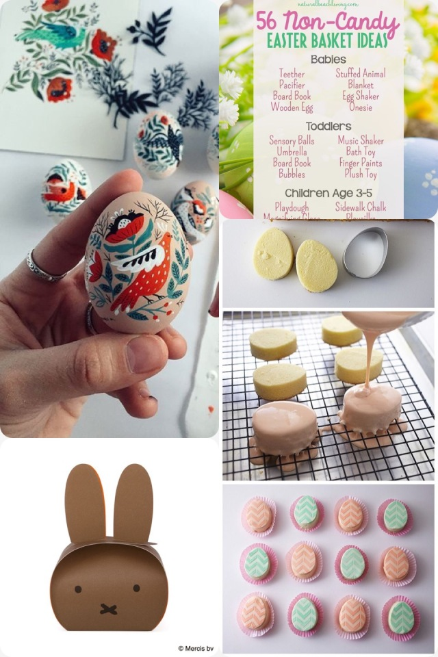 Fab Friday - Easter. Painted eggs, candy alternatives, egg shaped cakes, miffy package
