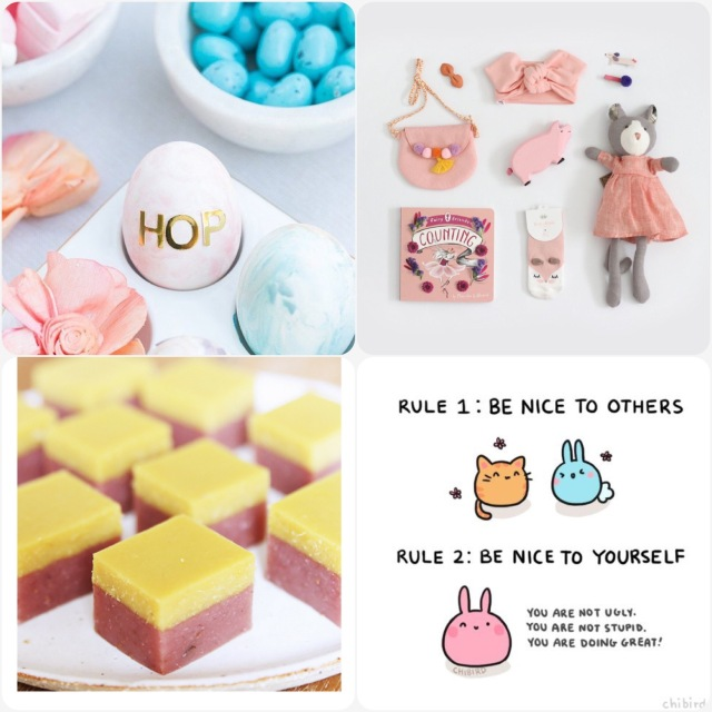 Fab Friday- stickers on eggs, Easter gifts, gummies with gelatin, be nice to each other