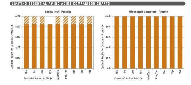 Sacha Inchi essential amino acid profile