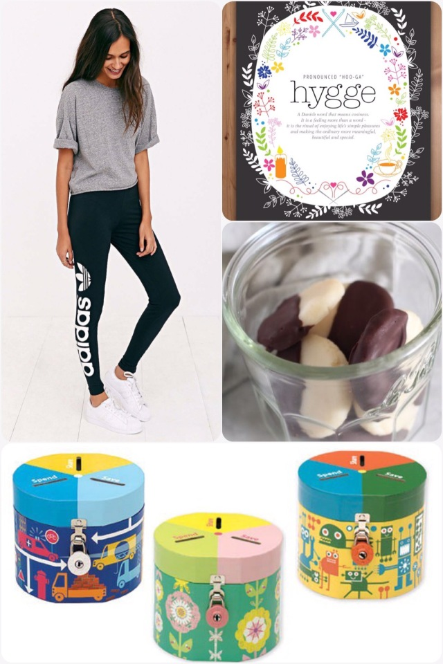 Fab Friday - adidas leggings, Paleo peppermint patties, hygge meaning,cute money boxes