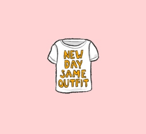 Clothing. Living intentionally. Capsule wardrobe, buy no new clothes, mend clothing. New day same outfit
