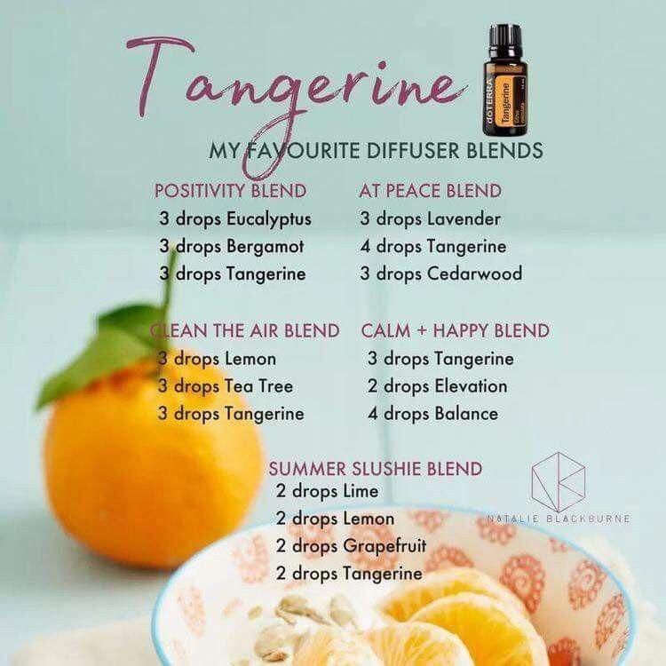 Diffuser blends for Tangerine essential oil